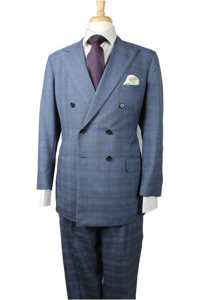A. Smith Clothiers Slate Windowpane Suit