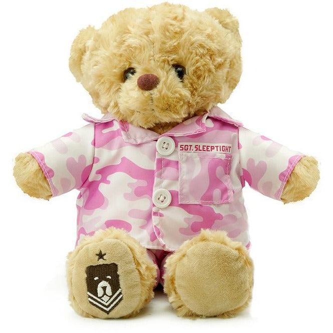 Teddy Bear - Sgt. Sleeptight - Pink Camouflage PJs