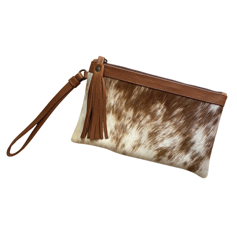 Jet Set Clutch- Saddle