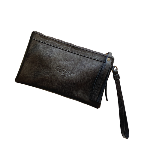 Jet Set Clutch- Black