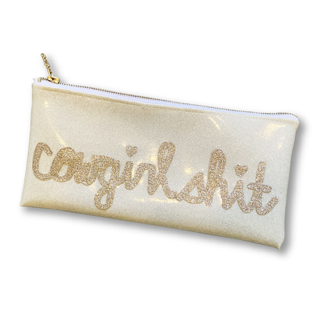 Cowgirl Shit Glitter Clutch