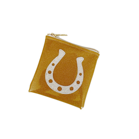 Horseshoe Mini Glitter Clutch