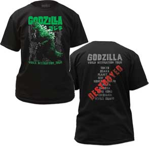 Godzilla - World Tour  Adult T-Shirt