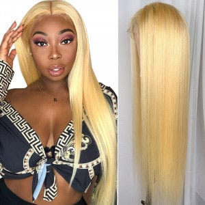 Lace Front Blonde Straight Wig