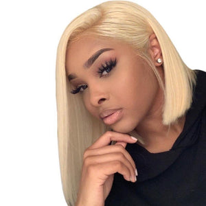 Lace Front Blonde Straight Bob Wig