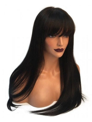 LACE FRONT STRAIGHT BANG WIG