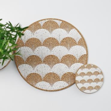 Cork Scallop Placemat