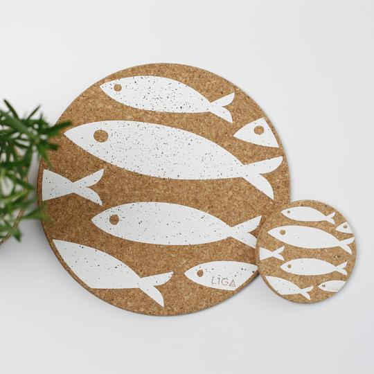 Cork Fish Coaster