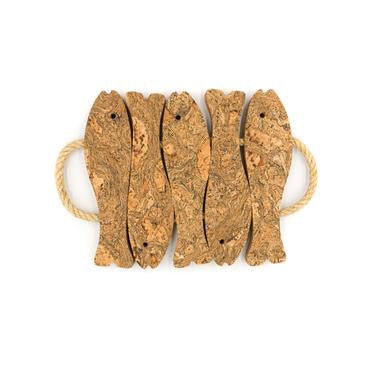 Liga Cork Fish Trivet Medium