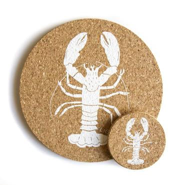 Liga Lobster Cork Coaster