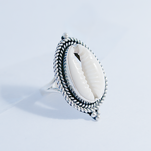 Ornate Cowrie  Ring