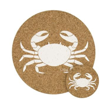 Liga Crab Cork Coaster