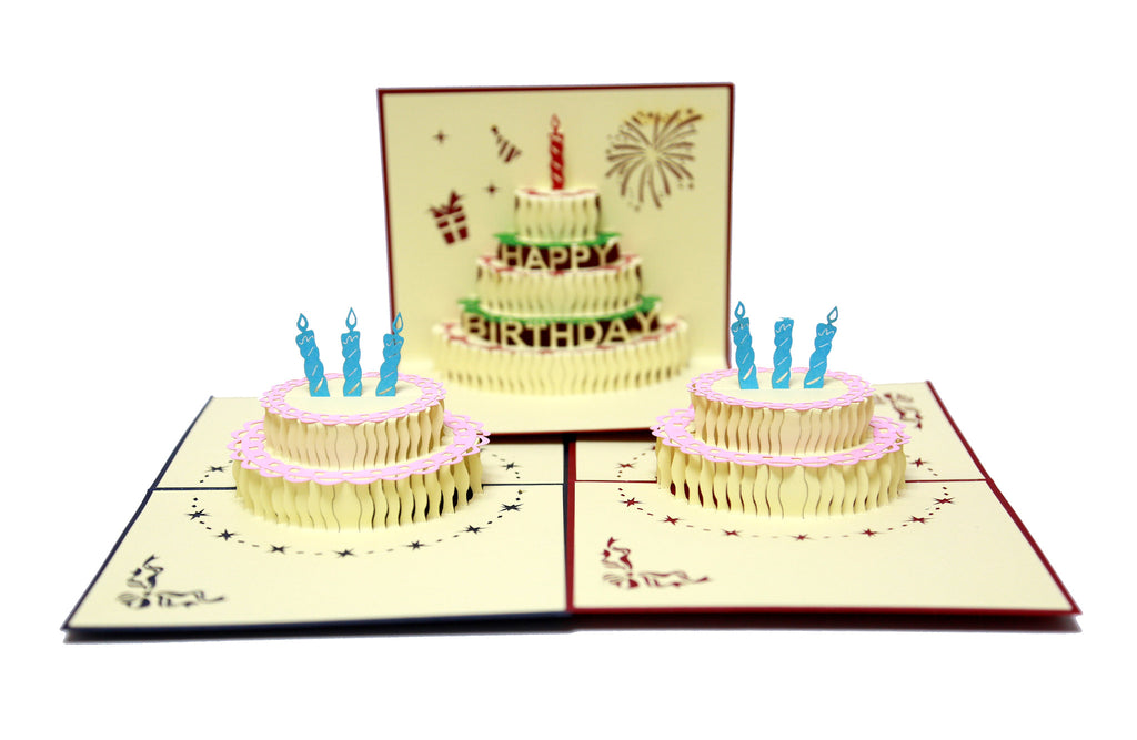 Miniwings Birthday Cake Cards Pack - Miniwings