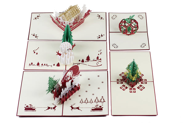 Miniwings Christmas Pop-up Cards Pack - Miniwings