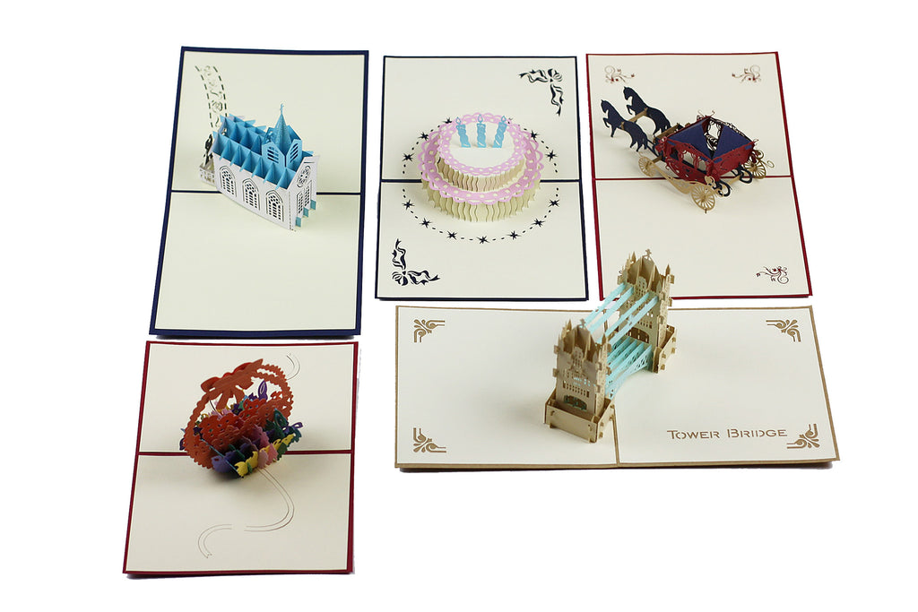 New Miniwings Pop-up Cards Pack 6 - Miniwings
