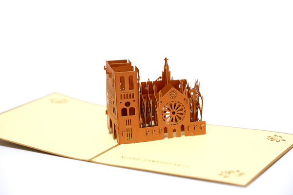 Miniwings Notre Dame de Paris Pop-up Card - Miniwings