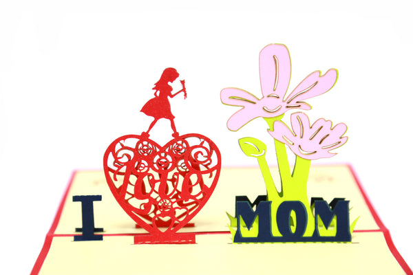 "Miniwings ""I love Mom"" Pop-up Card - Miniwings"