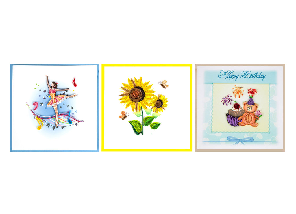 2017 Miniwings Paper Quilling Cards Pack 3 - Miniwings