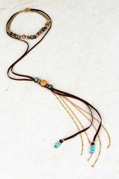 Natural Stone Mix Bohemian Choker - TheBrownEyedGirl Boutique
