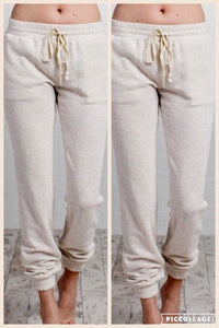 Casual Oatmeal Jogger Sweat Pants - TheBrownEyedGirl Boutique