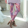 Spring Oriental Garden Floral Brushed Leggings Plus 2x-4x Size - TheBrownEyedGirl Boutique