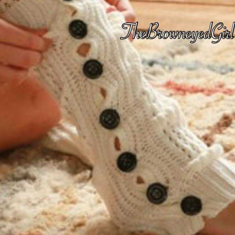 Beautiful Cozy Essential Button Down Leg Warmers - TheBrownEyedGirl Boutique