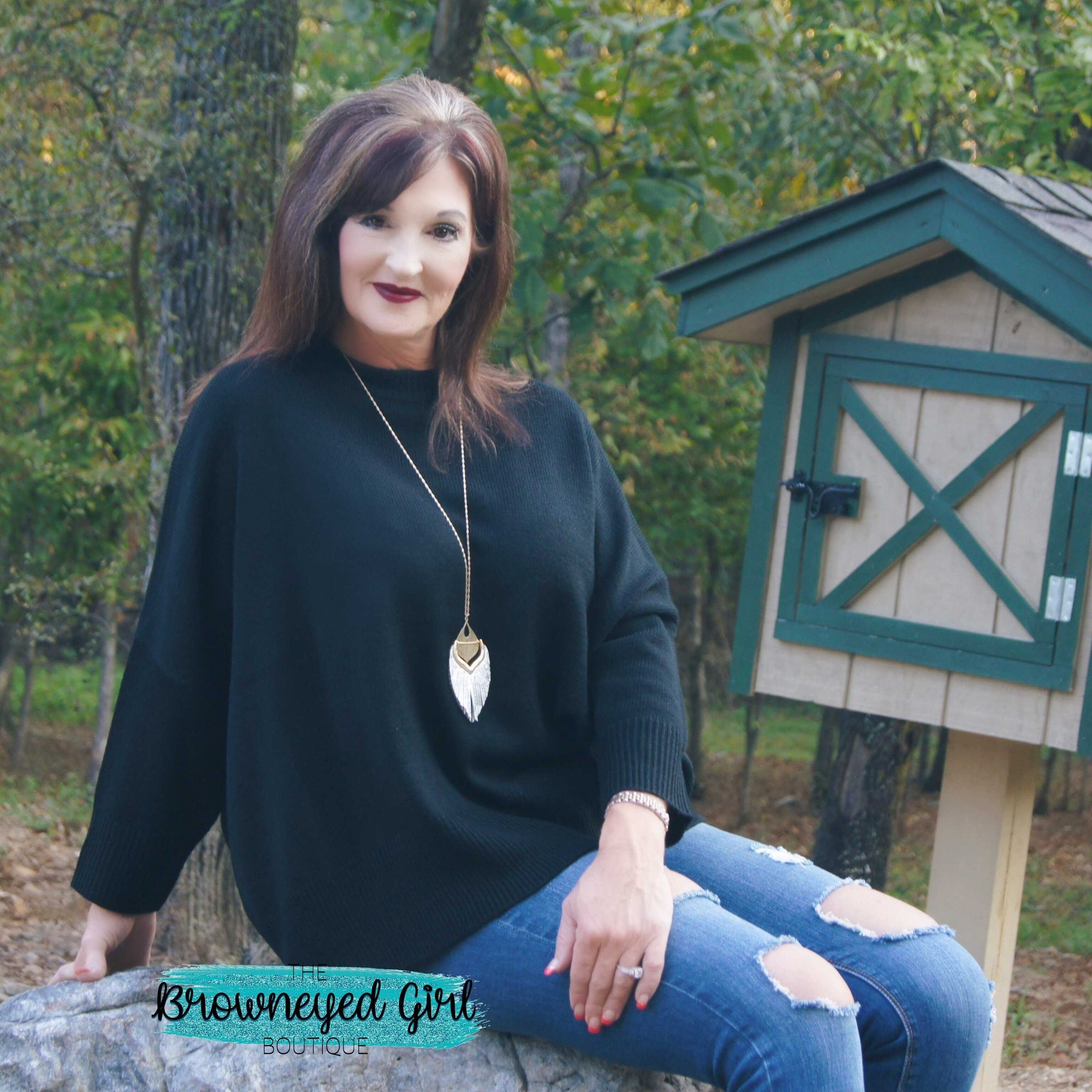Believe In You Dolman Batwing Sweater - TheBrownEyedGirl Boutique