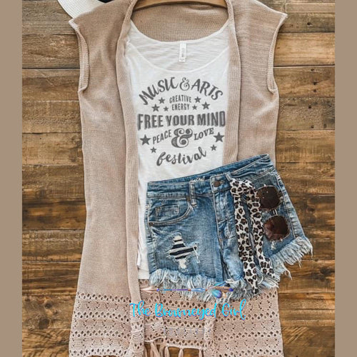 Festival Graphic Tank Top