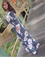 Fall Olive You Floral Maxi Dress - TheBrownEyedGirl Boutique