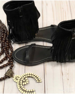 Very Volatile Lex Fringe Sandals - TheBrownEyedGirl Boutique