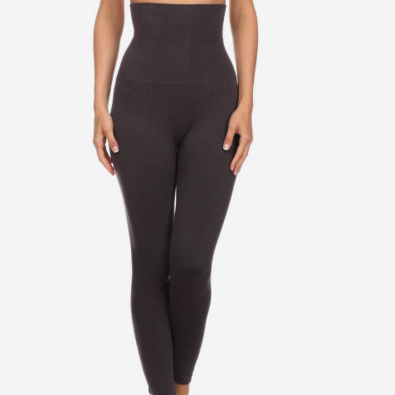 Yelete Live In High Waisted Compression Tummy Control Leggings Reg - TheBrownEyedGirl Boutique