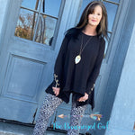 Easy Breezy Black Asymmetrical Tunic