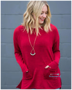 Warm My Heart Red Sweater
