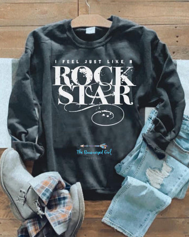 Rock Star Vintage Inspired Sweat Shirt