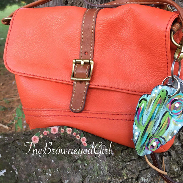 Hand Painted Leather Arrow, Tennessee Purse -Key Charm - TheBrownEyedGirl Boutique