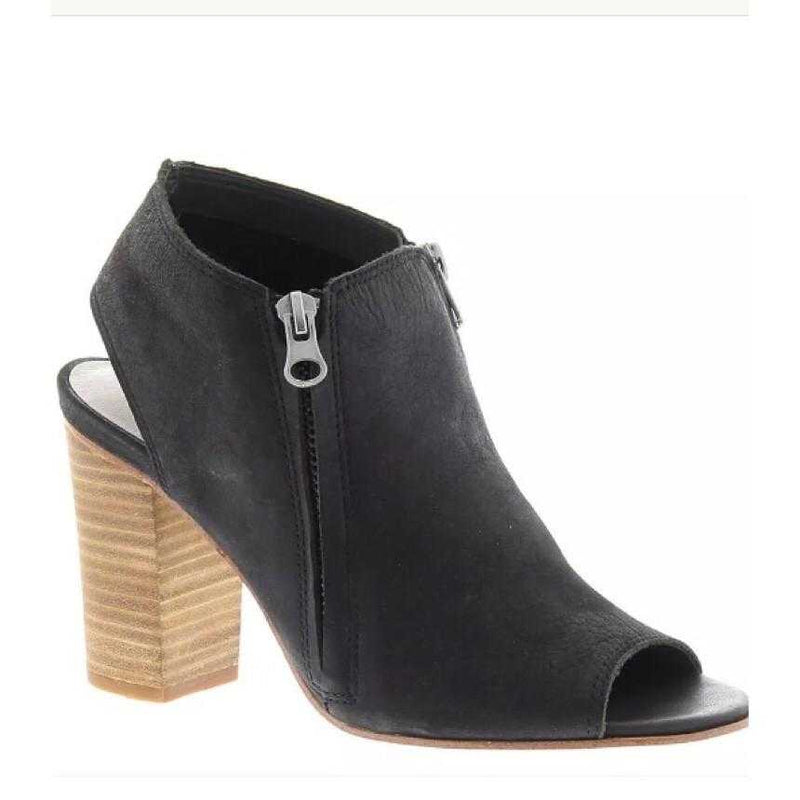 Sbicca Sancia  Black Peep Toe Bootie - TheBrownEyedGirl Boutique
