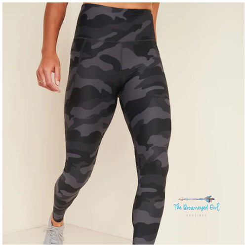 In The Field Camo High Waisted Leggings