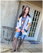 Falling In Love With Fall Color Block Cardigan