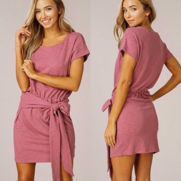 Chloe Ribbed Knit Wrap Dress