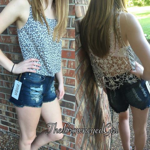 Distressed Denium Shorts Comfortable and Stretchy