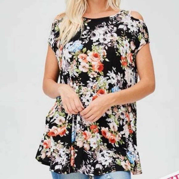 Marissa Plus Size Cold Shoulder Top