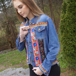 Stella Embroidered Denim Womens Jacket - TheBrownEyedGirl Boutique