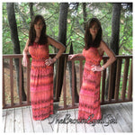 Caribbean Coral Best Sell Maxi Key Hole Accent - TheBrownEyedGirl Boutique