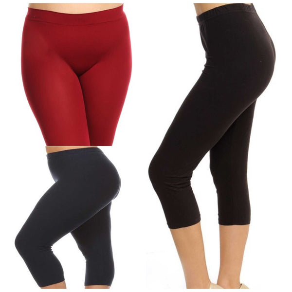 Capri Seem less Plus Size Leggings