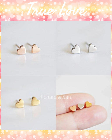 Keeping Our Hearts Full Tiny Heart Earrings