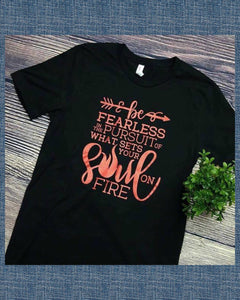 What Sets Your Soul On Fire Graphic Tee - TheBrownEyedGirl Boutique