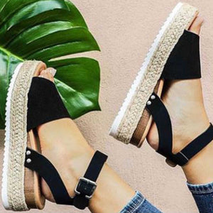 Summer Adjustable Buckel Platform Sandals Womens