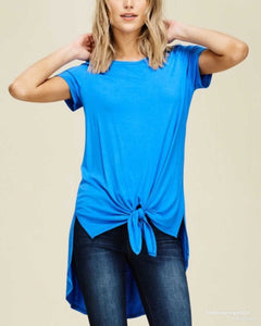 Tie Me A Knot High Lo Top - TheBrownEyedGirl Boutique