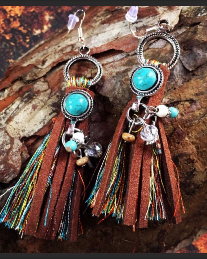 Look Twice Hand Made Boho Earrings - TheBrownEyedGirl Boutique