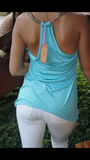 Beaded Chain Racer Back Tank Top - TheBrownEyedGirl Boutique